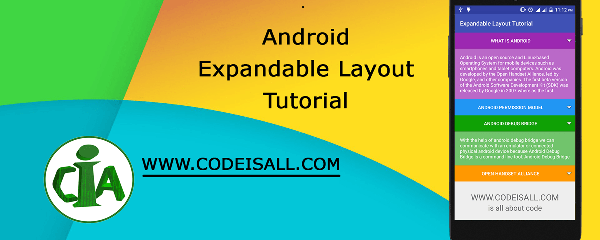 Android Expandable Layout Tutorial