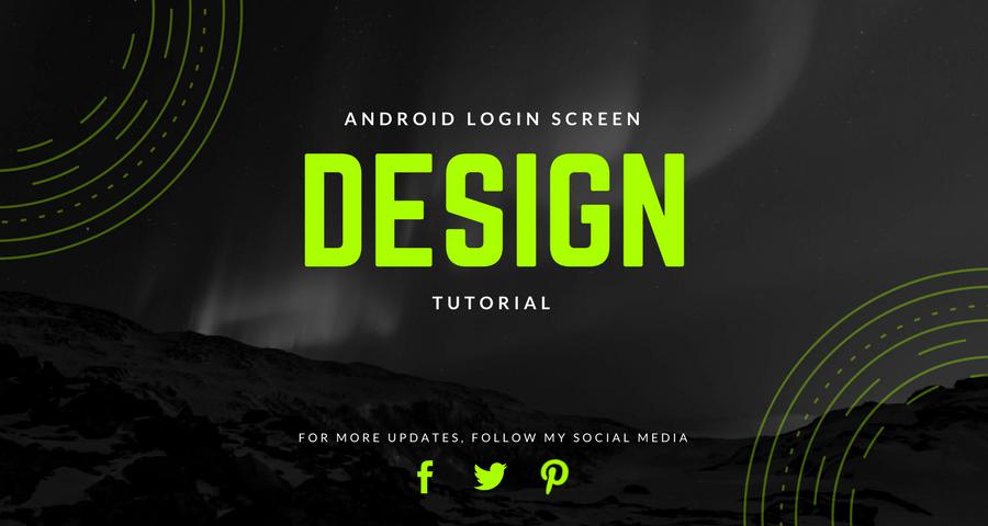 Android Login Screen Design