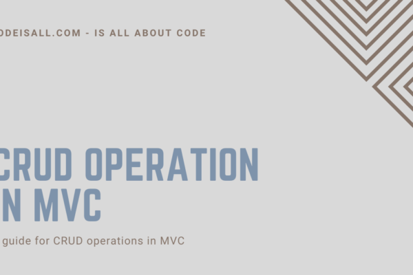 CRUD Operation in MVC