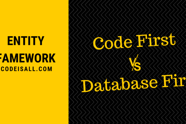 code first vs database first