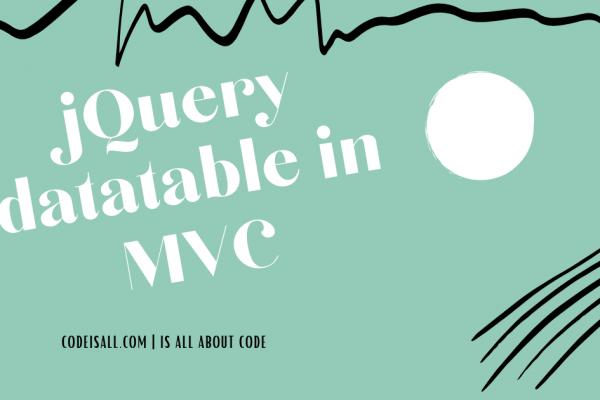 jQuery Datatable in MVC - codeisall.com